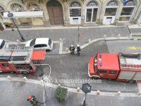 Kigyulladt egy gázvezeték a Sas utcában